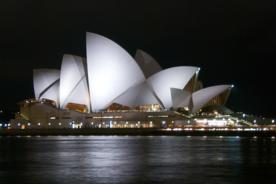 Sydney Opera House as seen from the Rocks.