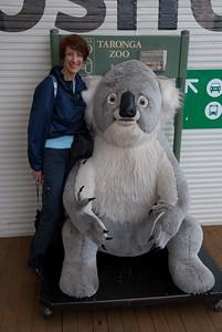 Paula at the zoo entrance.