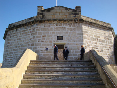 Over 150 years old, the Roundhouse gaol is the oldest building in Western Australia. It was built by convicts under armed guard, to house them. Imagine having to build your own prison...! But then again, a prison in Perth beats a mansion in most other cities.