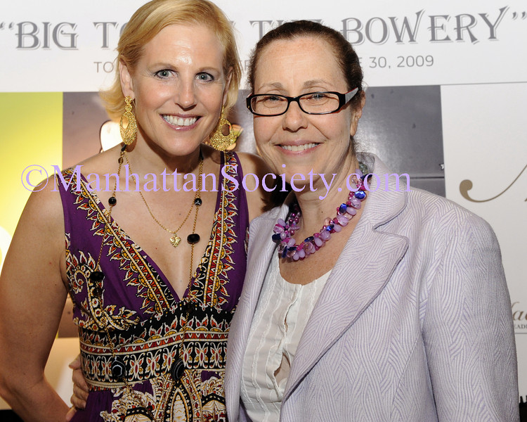 NEW YORK-JUNE 30: Monica Knoll, Deborah Axelrod attend BIG TOP AT THE BOWERY to Benefit Cancer 101 on Tuesday, June 30, 2009 at Bowery Terrace at the Bowery Hotel, 335 Bowery, New York City, NY (Photo Credit: ManhattanSociety.com by Gregory Partanio)
