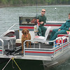 PAUL, ROCKY, AND MIKE ON TABLE ROCK LAKE  (BEING TOWED IN BY OUR BOAT)THEIR MOTOR WENT FRITZ