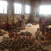 The inside of a pottery collective in the Kechene district of Addis.