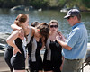 Girls 3rd boat getting instructions from coach Dale: Isabel, Mary, Gigi, and Mae
