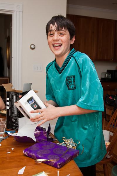 Benjamin laughing