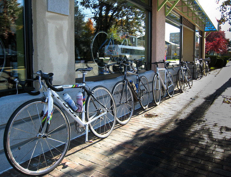 Bikes outside the shop (mine is 2nd from left)