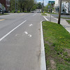 Oh look a bike lane! Not many of these on my trip.