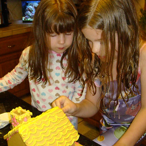 Building our Easter gingerbread house - 2009