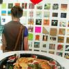 "Rebecca browses the RoCo's ""6x6x2009"" exhibit"