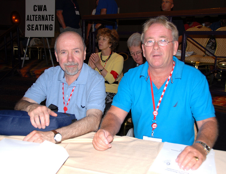 Local 1101 Business Agent Pat Gibbons and Business Agent Tom McGill