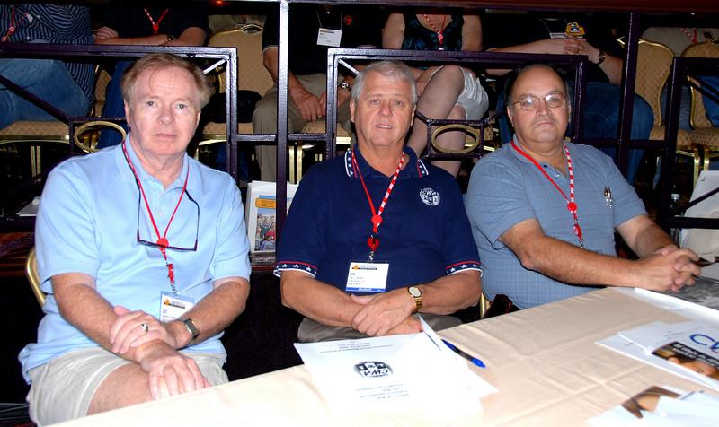 1101 President Joe Connolly (left), Secretary Jim Trainor and Executive Vice President Angel Feliciano
