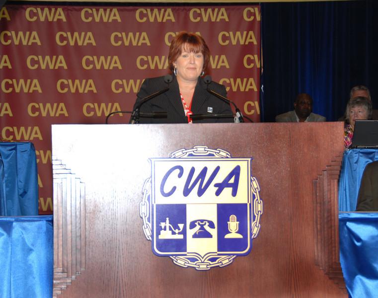 CWA Executive Vice President Annie Hill