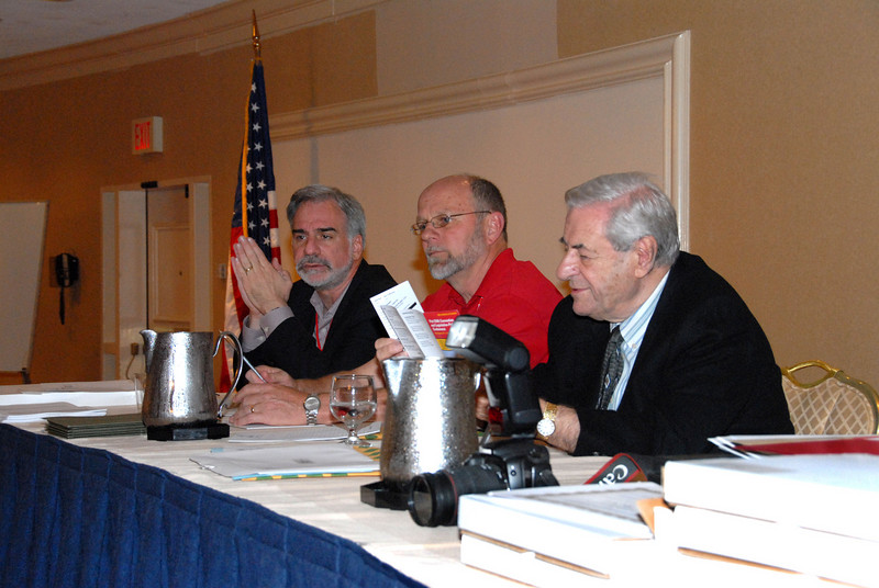 District One Legislative and Political Director Bob Master (left) and retired CWA President Morty Bahr (right)