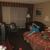 Thunderstorms delayed our California flight, so instead of staying in a hostel in San Fran we stayed in a hotel in Newark.