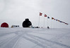Flag line in front of main dome.<br /> <br /> Flagrækken foran hovedbygningen.<br /> Photo: Ed Stockhard