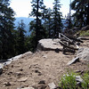 The trail up to the fire lookout