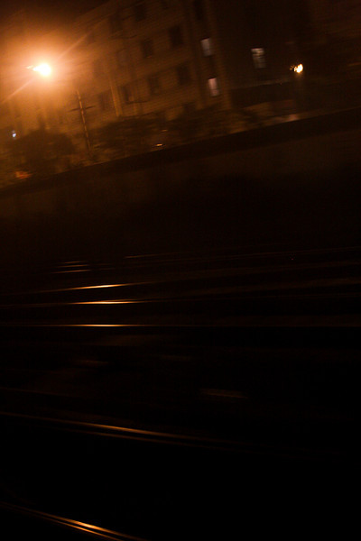 Darkness greets us as we roll into Chengdu's railway depot early in the morning two nights after leaving Beijing.