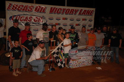 Chris Madden with family and crew in Victory Lane @ Cherokee Speedway