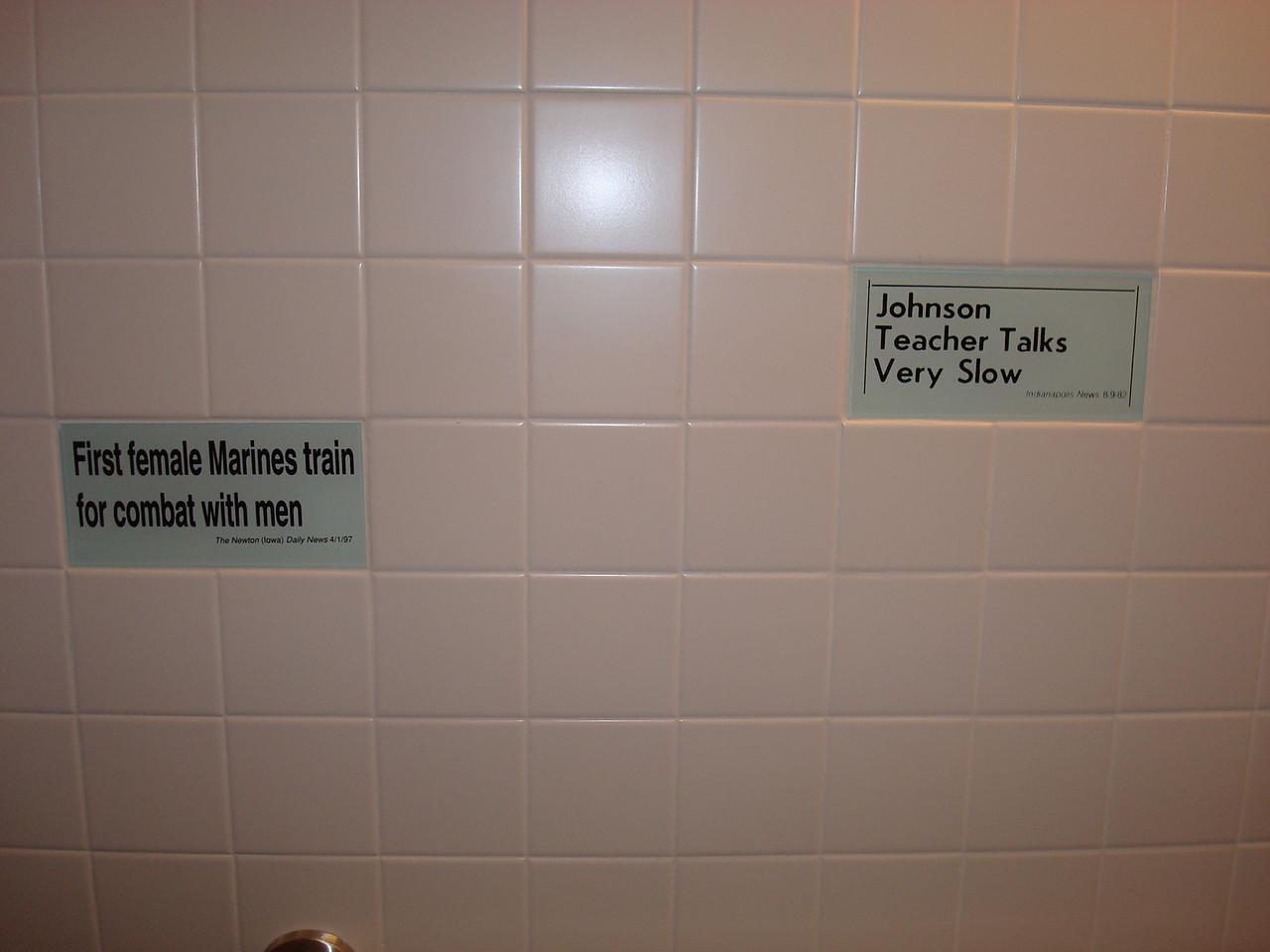 The Newseum bathroom. It amused me.
