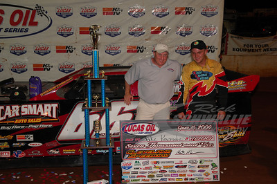 Jake Knowles in Victory Lane @ Cleveland Speedway