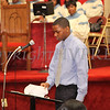 Earl Snead reads quotes from Abraham Lincoln during the Dr Martin Luther King, Jr. Program at Bethel Missionary Baptist Church in Wappingers Falls, New York on January 18, 2009