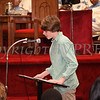 Daniel Schafer reads quotes from Martin Luther King, Jr. during the Dr Martin Luther King, Jr. Program at Bethel Missionary Baptist Church in Wappingers Falls, New York on January 18, 2009