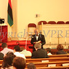 Pastor Edward L Hunt leads the Call to Worship at the Dr Martin Luther King, Jr. Program at Bethel Missionary Baptist Church in Wappingers Falls, New York on January 18, 2009