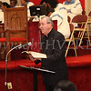 Monseignior Bellow of St. Mary's Church in Wappingers Falls provides the scripture reading during the Dr Martin Luther King, Jr. Program at Bethel Missionary Baptist Church in Wappingers Falls, New York on January 18, 2009