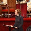 Alyson Young reads quotes from President Barack Obama during the Dr Martin Luther King, Jr. Program at Bethel Missionary Baptist Church in Wappingers Falls, New York on January 18, 2009
