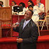 Bobby Anderson sings a song during the Dr Martin Luther King, Jr. Program at Bethel Missionary Baptist Church in Wappingers Falls, New York on January 18, 2009