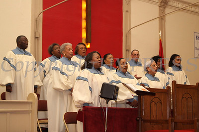 The Bethel Gospel Chorus sings a selection during the Dr Martin Luther King, Jr. Program at Bethel Missionary Baptist Church in Wappingers Falls, New York on January 18, 2009