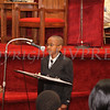 Devin Gibbs reads quotes from Martin Luther King, Jr. during the Dr Martin Luther King, Jr. Program at Bethel Missionary Baptist Church in Wappingers Falls, New York on January 18, 2009