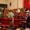 Arvenia Brown introduces each of the three historic figures during the Dr Martin Luther King, Jr. Program at Bethel Missionary Baptist Church in Wappingers Falls, New York on January 18, 2009