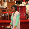 Rainya Heath reads quotes from President Barack Obama during the Dr Martin Luther King, Jr. Program at Bethel Missionary Baptist Church in Wappingers Falls, New York on January 18, 2009