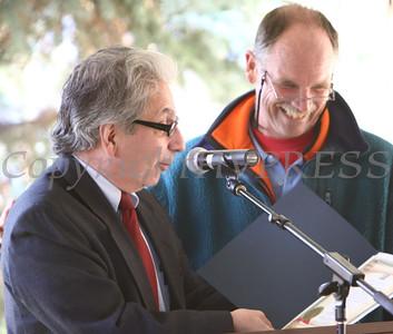 City of Newburgh Mayor Nicholas Valentine presents Captain William T Reynolds