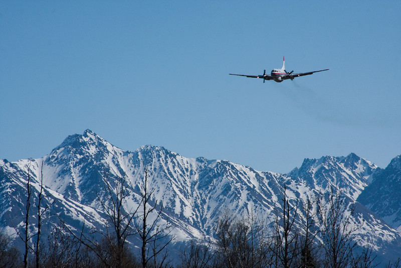 Matanuska Peak and D.O.F.'s tanker.