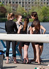 Girls third boat chatting