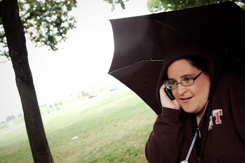 Phone call in the rain