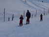 Maija and Ilze hanging on for the ride up the bunny hill. <br /> <br /> Jura mountains - Switzerland