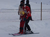 Maija and her ski instructor - first encounter with the tow-lift.<br /> <br /> Jura mountains - Switzerland