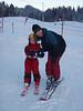 Ilze and Maija after Maija's first ski lesson.<br /> <br /> Jura mountains - Switzerland
