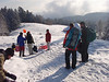 Sledding with friends after the birthday party.<br /> <br /> Jura mountains - Switzerland