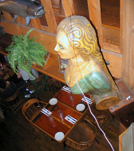 In a restaurant