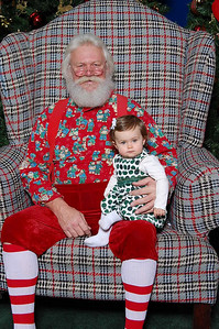 sitting on Santa's knee
