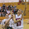 Two: Lindy Jones scores during game action against West Vigo Thursday night at the North gym.