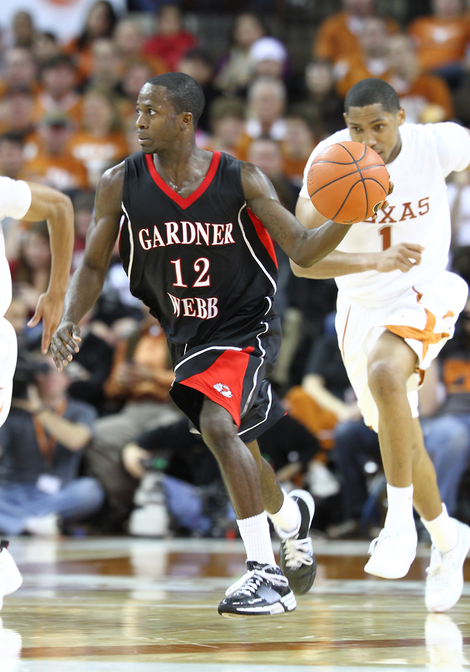 Gardner-Webb University Runnin' Bulldogs versus the University of Texas Longhorns Tuesday, December 29, 2009 at the Erwin Center in Austin, Texas..