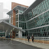 Main entrance: Union Hospital opened its doors to the general public Sunday afternoon.