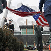 Flag raising: A military honor guard raises the Flag during the opening ceremony at the new Union Hospital East Saturday afternoon.