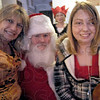 Santa: Sallie and Sierra Cooper sit on Santa's lap during his visit to Sierra's Clinton, Indiana apartment Sunday afternoon.