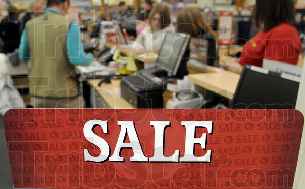 Sale: Cash registers were ringing at Gander Mountain Sunday afternoon as shoppers were out looking for a bargain.