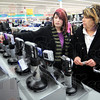 Picture this: Jade and Leann Green shop for cameras at K-Mart Friday afternoon.